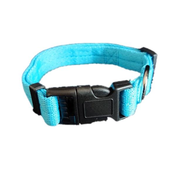 Hundvalp Solid Collar Nylon Justerbara Collars 4 Storlekar 6 Fä Svart Xl