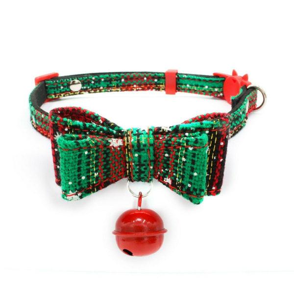 """Jul Pet för valp Bowknot Justerbar krage Bow Tie Necklace Dog C Grön M: nacke 8,6 """"-13,7"""""""