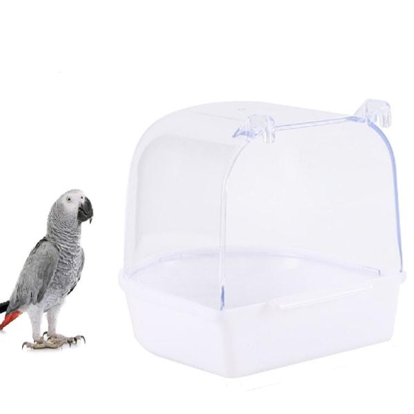 Klassisk Badkar Täcka Dusch för Bur Fåglar Cockatiel - Vit Vit