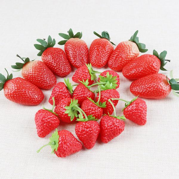 Konstgjord Strawberry Fake Fruit Kitchen Table Decoration 50 st S