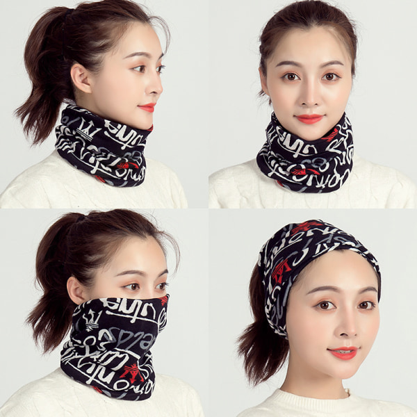 Kvinnors Snood Face Cover Mask Ladies Multifunction Ring Neck Sca