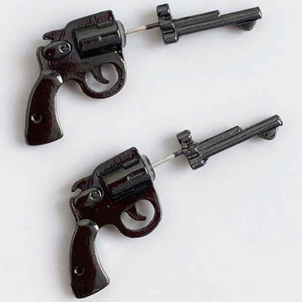 Örhänge: revolver svart