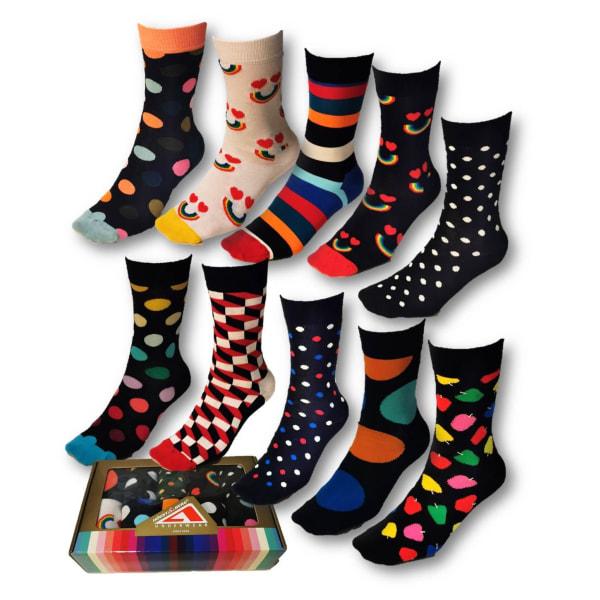 10 Par Högstaberg Strumpor-Socks 36-40 multifärg