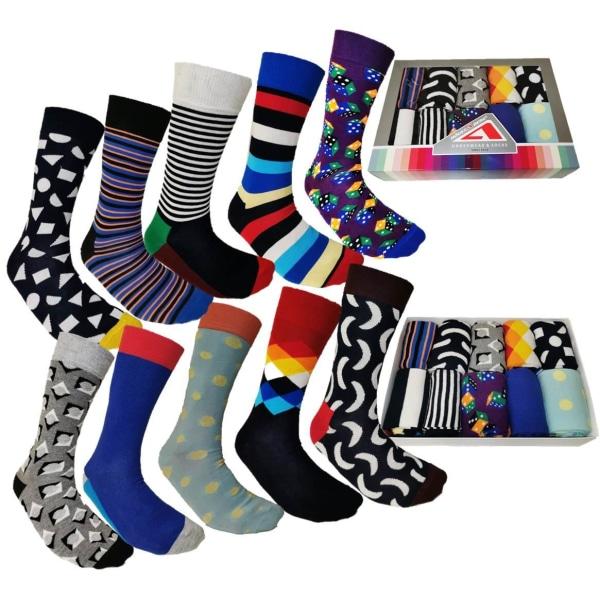 10 Par Högstaberg Strumpor-Socks 40-45 multifärg