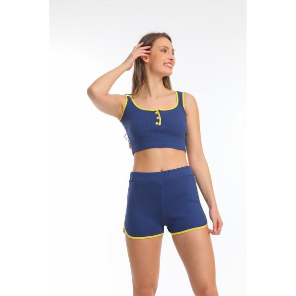 Crop top och shorts set- Högstaberg MultiColor L