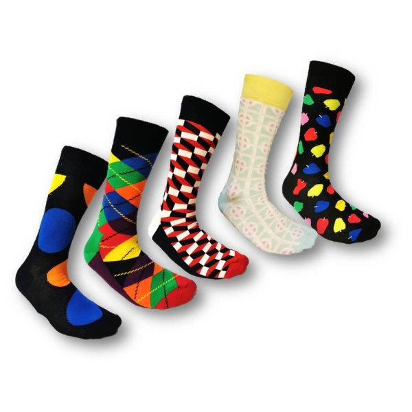 Färgglada Strumpor 10 Par -Socks  Storlek 40-45 multifärg one size