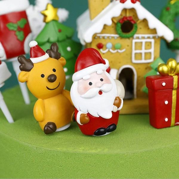 Christmas Cake Topper Santa Claus Snowman Cake Decoration Chris A13