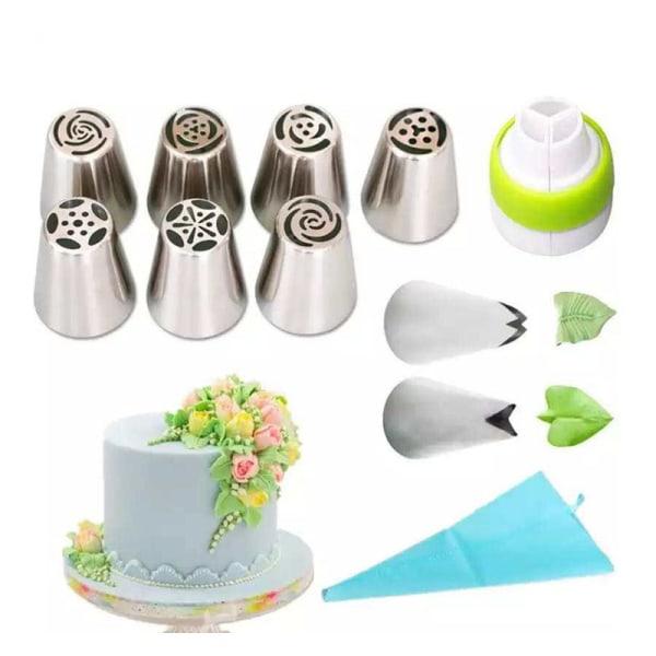 1 Set ryska pipetips Grädde munstycken för kakverktyg Pipin 4