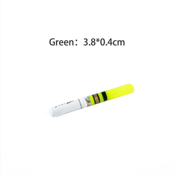 10st ljuspinnar grön / röd batteridriven lysande flottör f Green