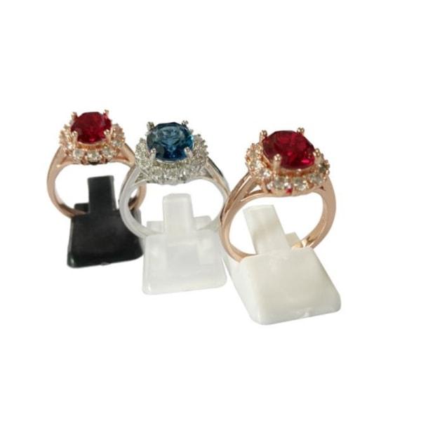 10st mini ringhållare stativ plastring smycken display rack r Black