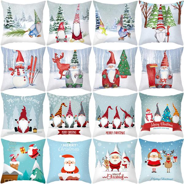God jul kuddfodral Santa Claus älgdekoration för H 27