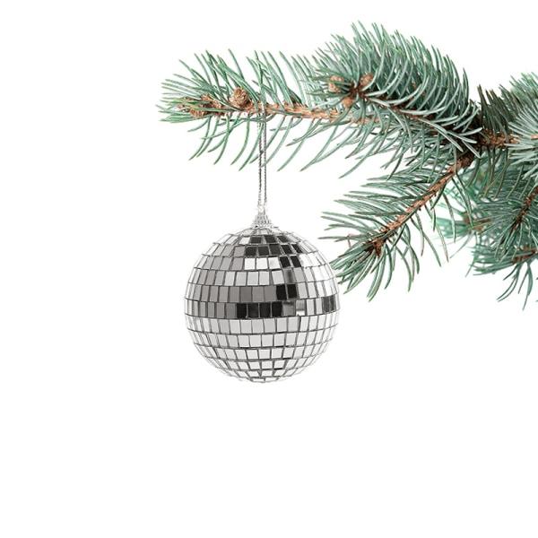 1Pack 2-10cm Christmas Ball Xmas Tree Hanging Ornaments Mirror 4CM 6Pcs/lot