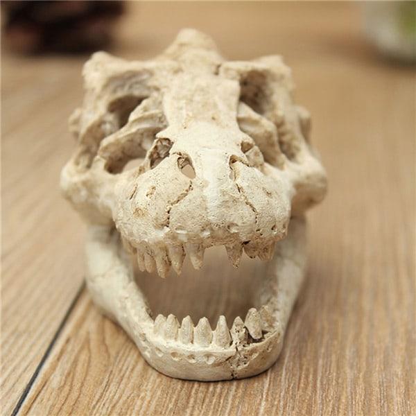 1st ny drake harts akvarium dekoration krokodil skalle för fi