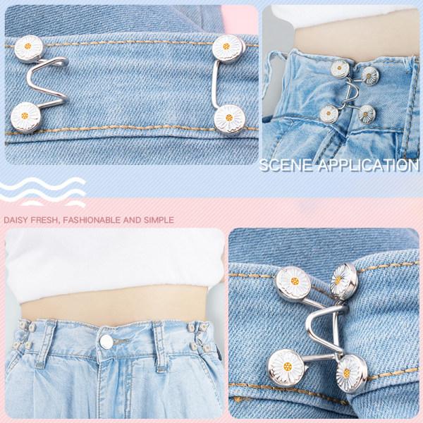 1Set DIY Invisible Adjust Button Metal Jeans Midja Avtagbar Buc