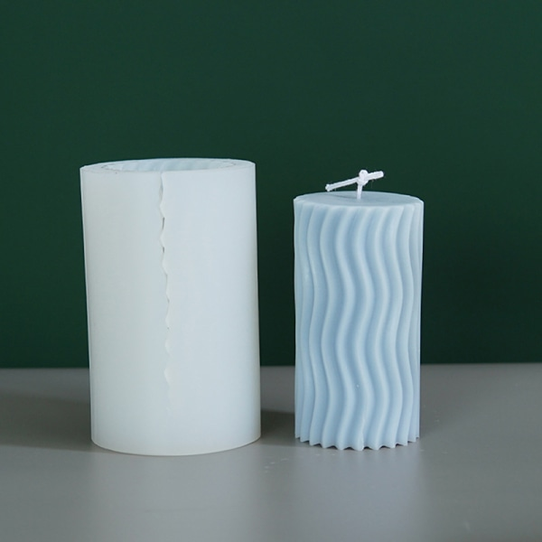 1x 3d rombhål silikonformar för tvåljus gör DIY han A2