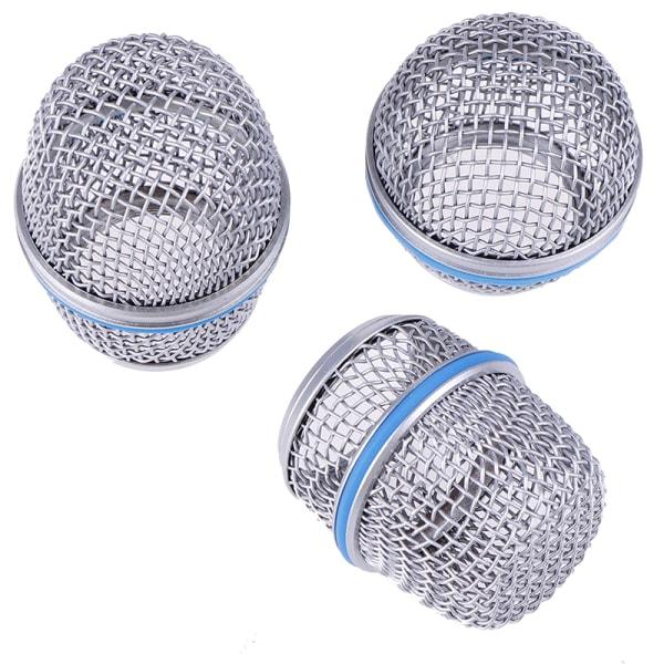 1x blå ersättningsstålmikrofongaller för sm58 beta87