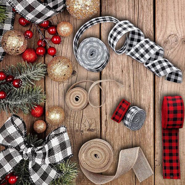 Rulleband Imitation Hamp Ribbon Christmas DIY Dekoration Xmas 03