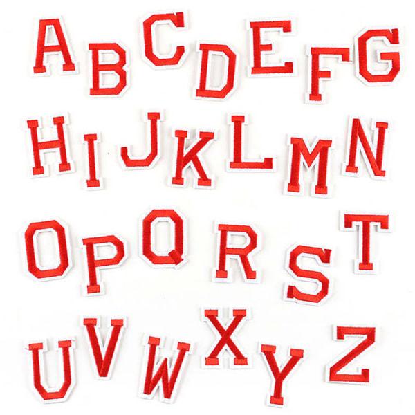26st/set AZ rosa guld engelska alfabetet bokstäver Patch tecknad P A20