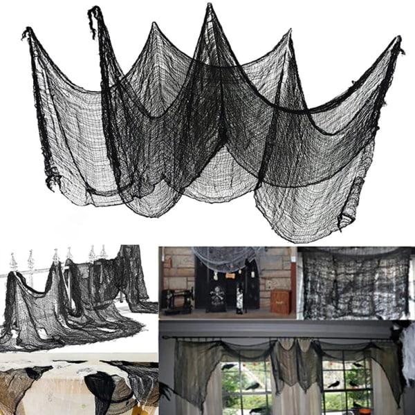 Läskig trasa för halloween dekoration fönster bordsdörr netto Spo 1
