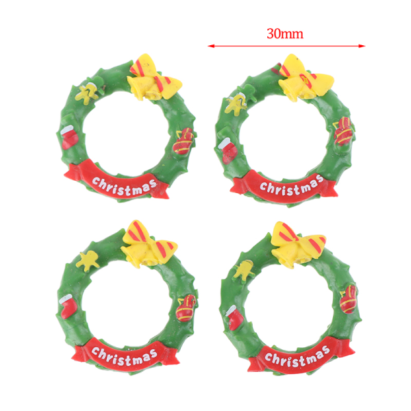 1:12 Dollhouse Miniature Christmas Garland Christmas Wreath Dol