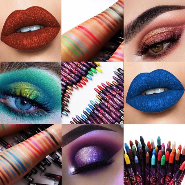 12 färger Eyeshadow Eye Shadow Pencil Lasting Torka Makeup Penna 30