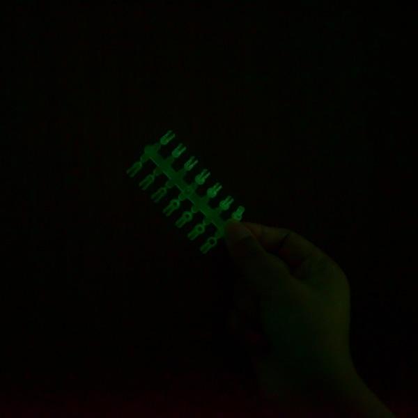 2st (kort) fiske glödstift klipp för fiskespö fluorescerande s