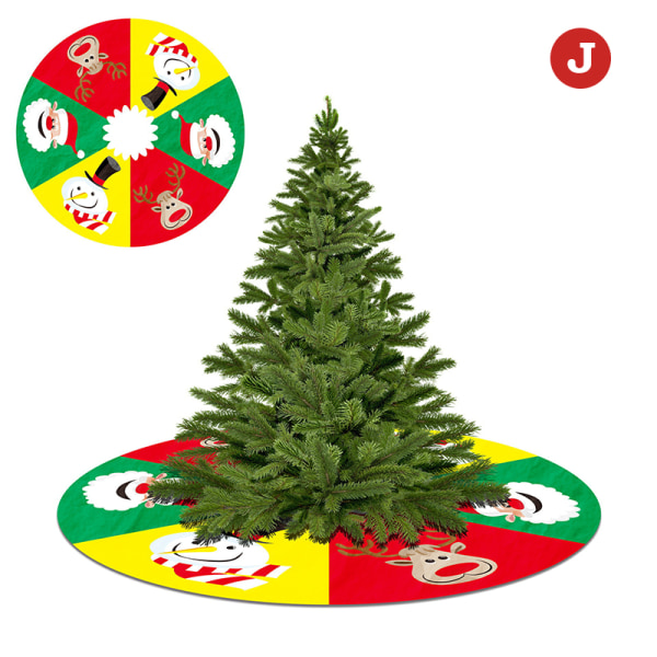 Julgran kjol matta nyår dekorationer semester fest J