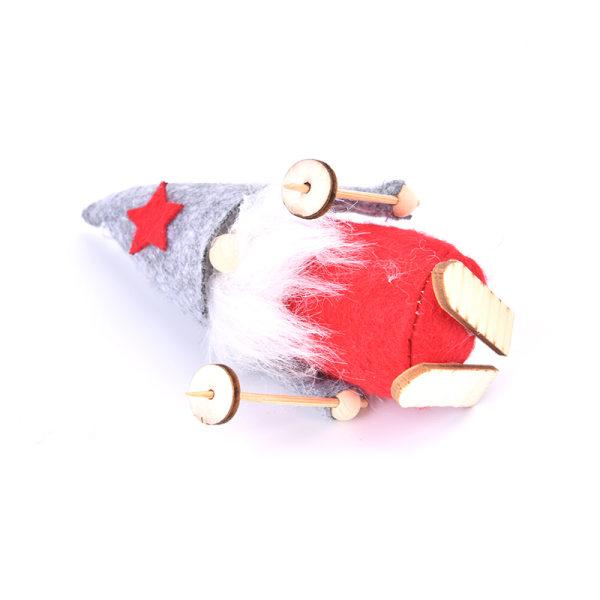 Christmas Ski Santa Claus Doll Xmas Tree Hängande leksaker för barn Red