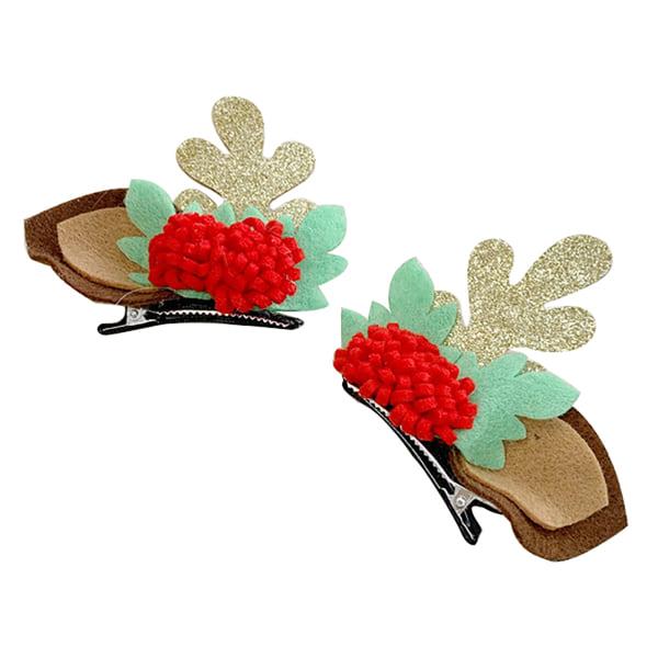 Jul gör-det-själv hårklipp, rosett, hårtillbehör, e de Multicolor D