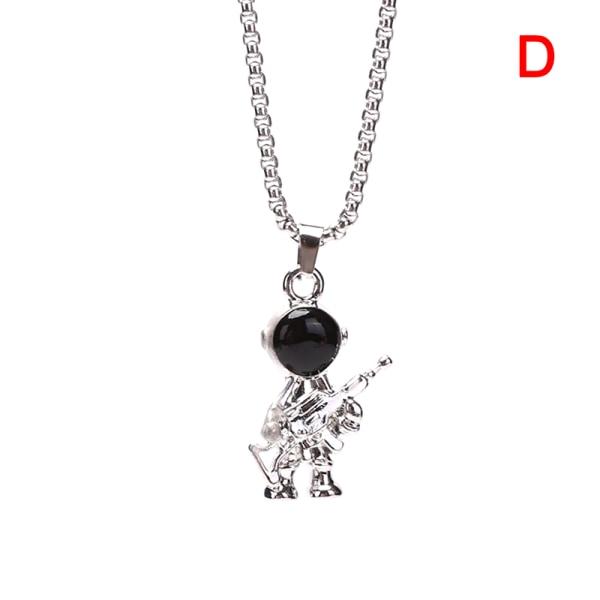 Hip Hop Fashion Titanium Steel Astronaut Necklace Charms Pendan D