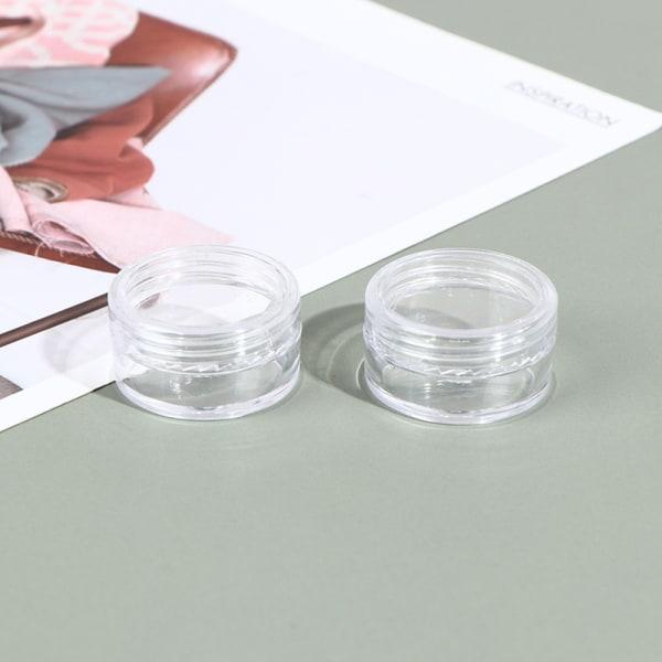 50 klara små 5 g gram / ml plastburkar för kosmetiska prov forts one size