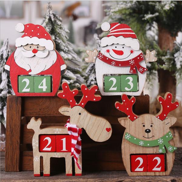 Julkalender Jul Trä Santa Claus Bilkalender De 015