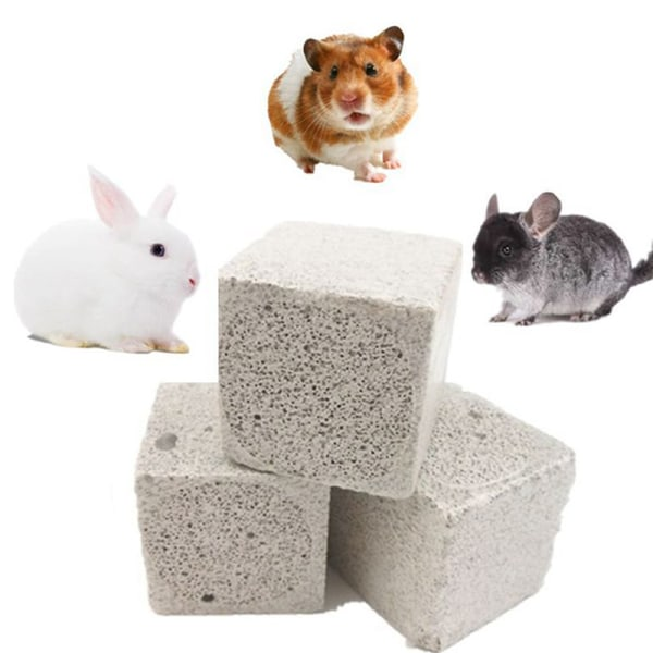 Natural Mineral Molar Stone Small Pet Dental Care Chew Toys Pe 3*3*3cm