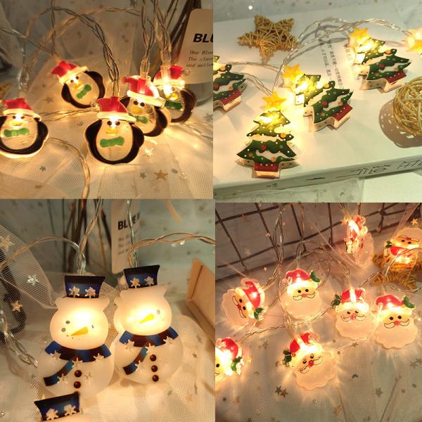 Jultomten Julgran LED -ljussträng God jul Dec N4