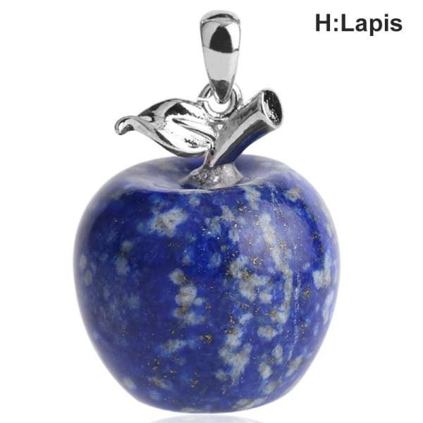 DIY Natural Crystal Quartz Stone Fruit Decoration Christmas Gif H:Lapis