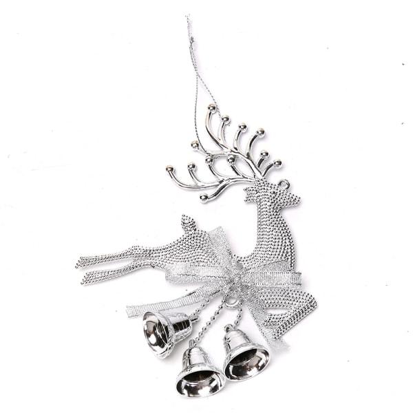 1st Guld Silver Ren Ren PVC Elk Julgran Hänge Ornamn Silver