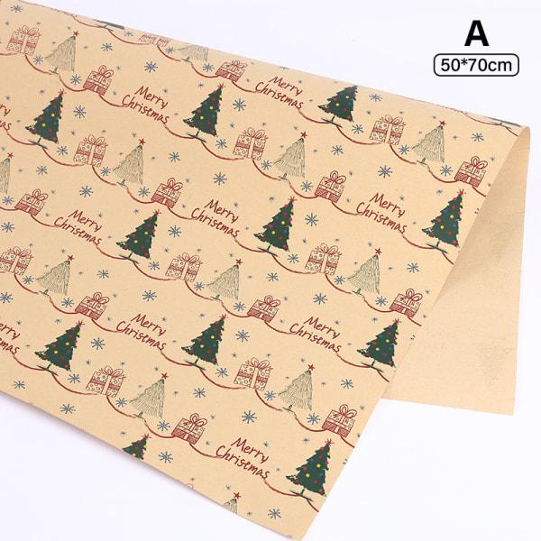 70*50 cm julklappsförpackning Craft Paper Roll DIY presentpapper A