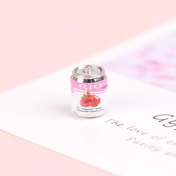 5st 1:12 dockhus miniatyr konserverad frukt för dockakök Pink