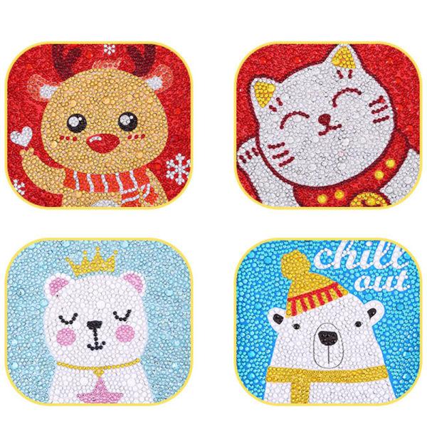 Diamond Art for Kids Easy 5D Diamond Art Painting Kit Crystal G D Christmas elk