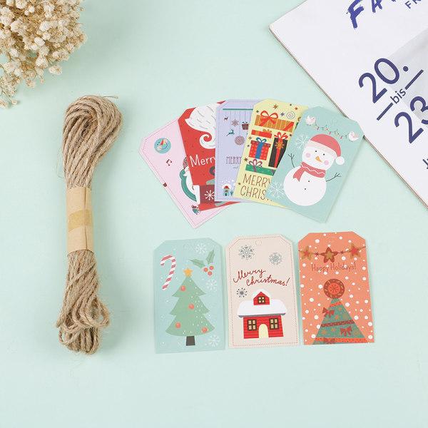 100st Papper Etikett Tagg Juldekorationer Taggar Hängande present W I