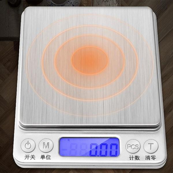 0.01g/0.1g Precision LCD Digitalvågar Mini Elektroniska Gram W D