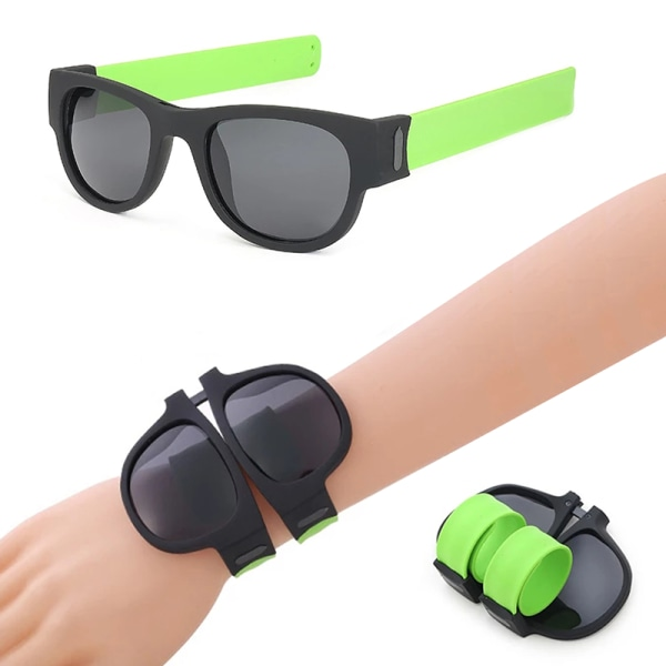 Fällbara handledssolglasögon Slap Armband Foldablen solglasögon M White