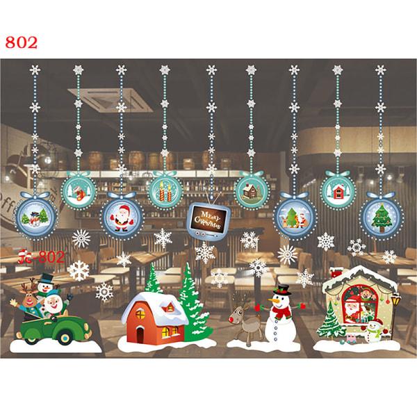 Julfönsterklistermärken Glada dekorationer till hemmet Navidad Wa A56