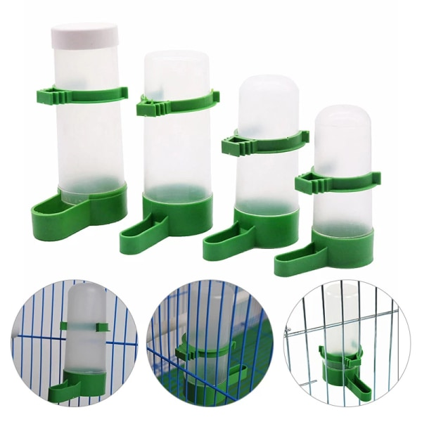 6pc Bird Water Drinker Feeder Automatisk dricksfontän Pet Dr