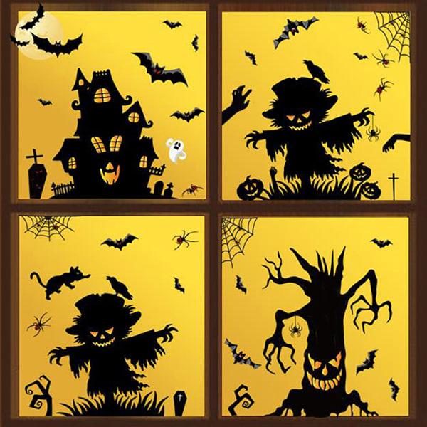 Blood Handprint Footprints Stickers Halloween Dekoration Skräck A2