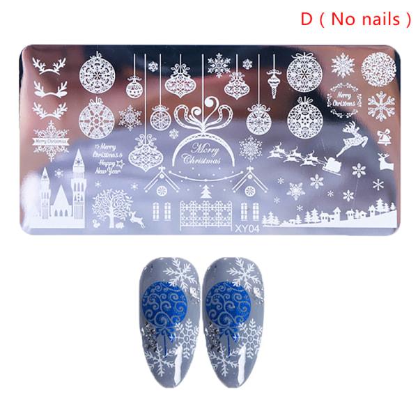 Jul snöflinga blå film rostfritt stål tryckplatta fa D