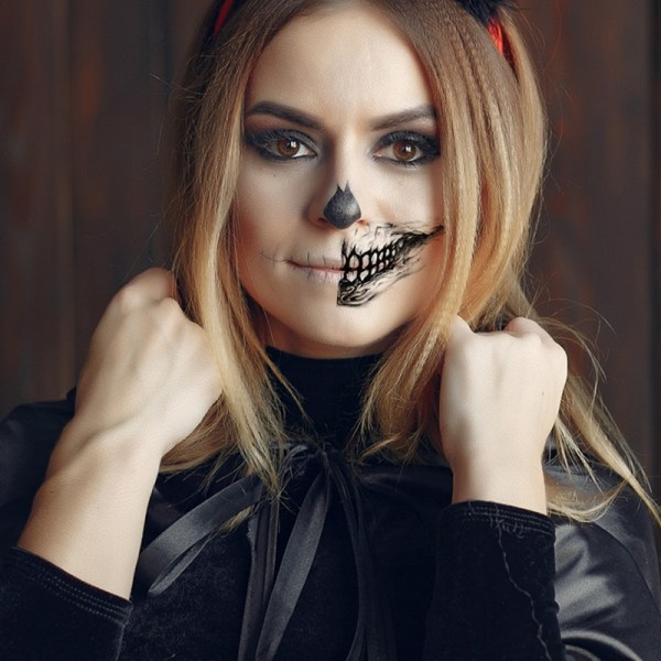 Halloween mun rolig makeup ansikte vattentät engångspinne 13