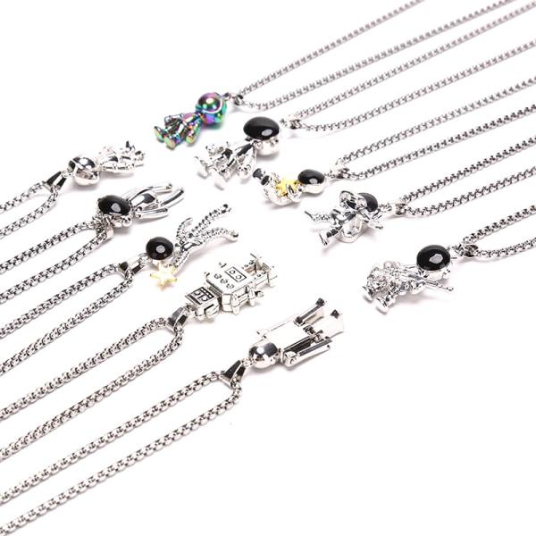Hip Hop Fashion Titanium Steel Astronaut Necklace Charms Pendan C