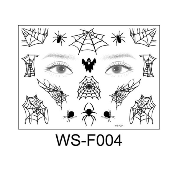 Halloween spindelnät rolig ansiktsmakeup engångs vattentät N4