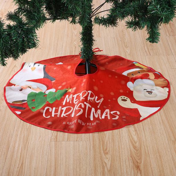 Julgran kjol matta nyår dekorationer semester fest H
